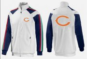 Wholesale NFL Chicago Bears Team Logo Jacket White_2
