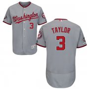 Wholesale Cheap Nationals #3 Michael Taylor Grey Flexbase Authentic Collection 2019 World Series Champions Stitched MLB Jersey