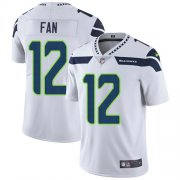Wholesale Cheap Nike Seahawks #12 Fan White Men's Stitched NFL Vapor Untouchable Limited Jersey