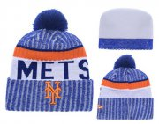 Wholesale Cheap MLB New York Mets Logo Stitched Knit Beanies 002