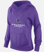 Wholesale Cheap Women's Atlanta Falcons Big & Tall Critical Victory Pullover Hoodie Purple
