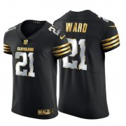 Wholesale Cheap Cleveland Browns #21 Denzel Ward Men's Nike Black Edition Vapor Untouchable Elite NFL Jersey