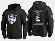 Wholesale Cheap Panthers #2 Terry Carkner NHL Banner Wave Usa Flag Black Hoodie