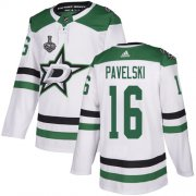 Cheap Adidas Stars #16 Joe Pavelski White Road Authentic Youth 2020 Stanley Cup Final Stitched NHL Jersey