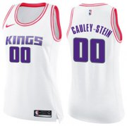 Wholesale Cheap Women's Sacramento Kings #00 Willie Cauley-Stein White Pink NBA Swingman Fashion Jersey
