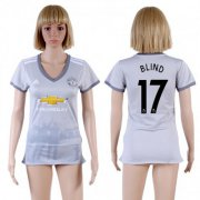 Wholesale Cheap Women's Manchester United #17 Blind Sec Away Soccer Club Jersey