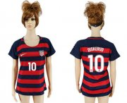 Wholesale Cheap Women's USA #10 Diskerud Away Soccer Country Jersey