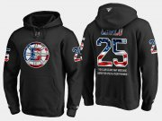 Wholesale Cheap Bruins #25 Brandon Carlo NHL Banner Wave Usa Flag Black Hoodie