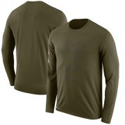 Wholesale Cheap Men's Tampa Bay Buccaneers Nike Olive Salute to Service Sideline Legend Performance Long Sleeve T-Shirt