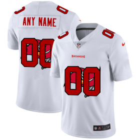 Wholesale Cheap Tampa Bay Buccaneers Custom White Men\'s Nike Team Logo Dual Overlap Limited NFL Jersey