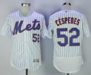 Wholesale Cheap Mets #52 Yoenis Cespedes White(Blue Strip) Flexbase Authentic Collection Stitched MLB Jersey