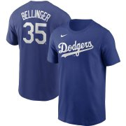 Wholesale Cheap Los Angeles Dodgers #35 Cody Bellinger Nike Name & Number T-Shirt Royal