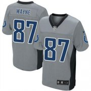 Wholesale Cheap Nike Colts #87 Reggie Wayne Grey Shadow Men's Stitched NFL Elite Jersey