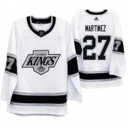 Wholesale Cheap Los Angeles Kings #27 Alec Martinez Men's Adidas 2019-20 Heritage White Throwback 90s NHL Jersey