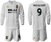 Wholesale Cheap Valencia #9 Paco Alcacer Home Long Sleeves Soccer Club Jersey