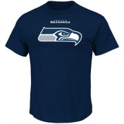 Wholesale Cheap Seattle Seahawks Majestic Critical Victory T-Shirt Navy