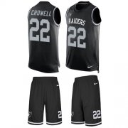 Wholesale Cheap Nike Raiders #22 Isaiah Crowell Black Team Color Men's Stitched NFL Limited Tank Top Suit Jersey