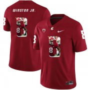 Wholesale Cheap Washington State Cougars 8 Easop Winston Jr. Red Fashion College Football Jersey