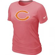 Wholesale Cheap Women's Nike Chicago Bears Pink Logo T-Shirt