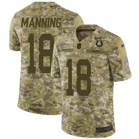 Wholesale Cheap Nike Colts #18 Peyton Manning Camo Youth Stitched NFL Limited 2018 Salute to Service Jersey