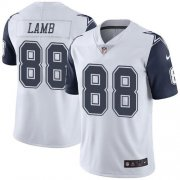 Wholesale Cheap Nike Cowboys #88 CeeDee Lamb White Men's Stitched NFL Limited Rush Jersey