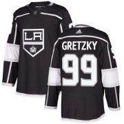 Wholesale Cheap Adidas Kings #99 Wayne Gretzky Black Home Authentic Stitched Youth NHL Jersey