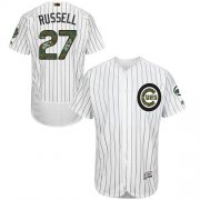 Wholesale Cheap Cubs #27 Addison Russell White(Blue Strip) Flexbase Authentic Collection Memorial Day Stitched MLB Jersey