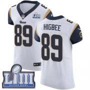 Wholesale Cheap Nike Rams #89 Tyler Higbee White Super Bowl LIII Bound Men's Stitched NFL Vapor Untouchable Elite Jersey