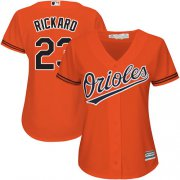 Wholesale Cheap Orioles #23 Joey Rickard Orange Alternate Women's Stitched MLB Jersey