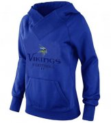Wholesale Cheap Women's Minnesota Vikings Big & Tall Critical Victory Pullover Hoodie Blue