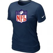 Wholesale Cheap Women's Nike NFL Logo NFL T-Shirt Dark Blue