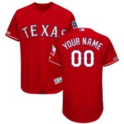Wholesale Cheap Texas Rangers Majestic Alternate Flex Base Authentic Collection Custom Jersey Scarlet