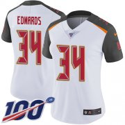 Wholesale Cheap Nike Buccaneers #34 Mike Edwards White Women's Stitched NFL 100th Season Vapor Untouchable Limited Jersey