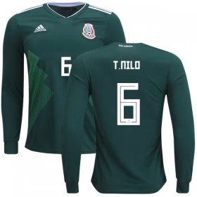 Wholesale Cheap Mexico #6 T.Nilo Home Long Sleeves Kid Soccer Country Jersey