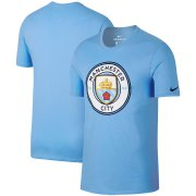 Wholesale Cheap Manchester City Nike Team Crest Performance T-Shirt Light Blue