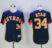 Wholesale Astros #34 Nolan Ryan Navy Blue Flexbase Authentic Collection Stitched Baseball Jersey