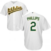Wholesale Cheap Athletics #2 Tony Phillips White Cool Base Stitched Youth MLB Jersey