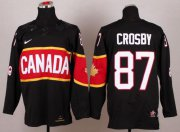 Wholesale Cheap Olympic 2014 CA. #87 Sidney Crosby Black Stitched NHL Jersey
