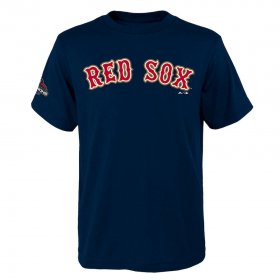 Wholesale Cheap Boston Red Sox Majestic Youth 2019 Gold Program Wordmark T-Shirt Navy