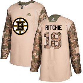 Wholesale Cheap Adidas Bruins #18 Brett Ritchie Camo Authentic 2017 Veterans Day Stitched NHL Jersey