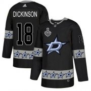 Wholesale Cheap Adidas Stars #18 Jason Dickinson Black Authentic Team Logo Fashion 2020 Stanley Cup Final Stitched NHL Jersey