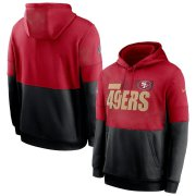 Wholesale Cheap San Francisco 49ers Nike Sideline Impact Lockup Performance Pullover Hoodie Scarlet Black