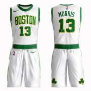 Wholesale Cheap Boston Celtics #13 Marcus Morris White Nike NBA Men's City Authentic Edition Suit Jersey