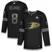 Wholesale Cheap Adidas Ducks #8 Teemu Selanne Black Authentic Classic Stitched NHL Jersey