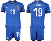 Wholesale Cheap Italy #19 Bonucci Home Soccer Country Jersey