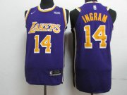 Wholesale Cheap Lakers 14 Brandon Ingram Purple 2018-19 Nike Authentic Jersey