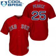 Wholesale Cheap Red Sox #25 Steve Pearce Red New Cool Base Stitched MLB Jersey