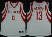 Wholesale Cheap Houston Rockets #13 James Harden Revolution 30 Swingman 2014 White Red Jersey