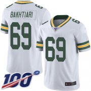 Wholesale Cheap Nike Packers #69 David Bakhtiari White Men's Stitched NFL 100th Season Vapor Limited Jersey