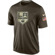 Wholesale Cheap Men's Los Angeles Kings Salute To Service Nike Dri-FIT T-Shirt